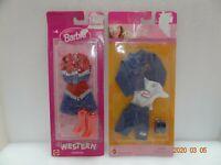 Mattel Barbie - Western Fashions & Jean Fashions Doll Clothing