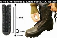 Black GI Style 9 Hole Zipper Combat or Jungle Boot Lace 6195 Rothco