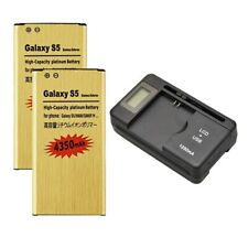 2X High-Capacity 4350mAh Battery + Charger for Samsung Galaxy S5 G900V G900A P F