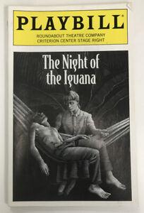 Night of the Iguana Playbill Cherry Jones Marsha Mason William Petersen