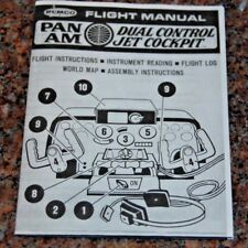 1969 Remco 747 Pan Am Dual Control Jet Cockpit Flight Manual (COPY)