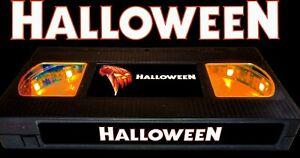 Halloween (1978) - Retro VHS Lamp +Remote Control - 70s 80s Horror Movie