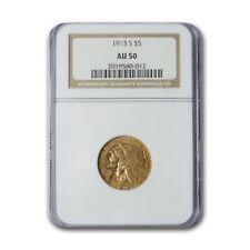 1913-S $5 Indian Gold Half Eagle AU-50 NGC