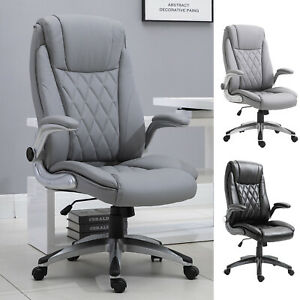 Executive Office Chair Sleek Ergonomic 360° w/ Headrest Adjustable Height PU