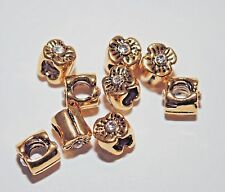European style Gold flower spacer beads for charm bracelets wholesale lot 10