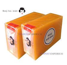 2 x Large 135g Genuine Kojic Acid Soap Whitening Lightening BEVI Kojie San