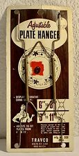 """Vintage Travco Decorative Plate Hanger Adjustable 6""""-11"""" Display Holder Brass US"""