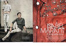 COUPURE DE PRESSE CLIPPING  094  2013  ISABEL MARANT (4 pages)