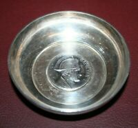 """Vintage 3"""" Collectible French Silverplate Napoleon I Commemorative Bowl Dish"""