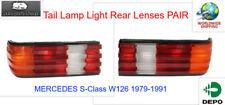 Tail Lamp Light Rear Lenses PAIR Fits MERCEDES S-Class W126 1979-1991
