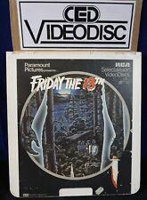 *CED DISC* FRIDAY THE 13th 1981 Selectavision CED CART horror slasher