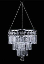 3-Tier Acrylic CrystalLine Chandelier Lampshade