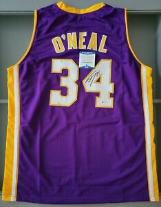SHAQUILLE O'NEAL SIGNED LOS ANGELES LAKERS JERSEY (BECKETT COA)