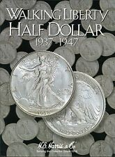 Coin Folder - Walking Liberty Half Dollar 1937 to 1947 Set - Harris Album 2694