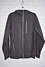 Burton Dryride Hooded Ski Snowboard Jacket Black Spell Out Mens L