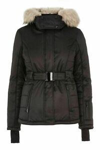 Topshop Black Sno Ski Jacket UK6 EUR34 US2