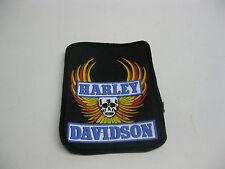 ancien écusson patch thermocollant pour blouson moto harley davidson 1980