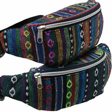 Ladies Funky Ethnic Tribal Hippy Multi Colour BUM BAG Fanny Pack Raves Festivals