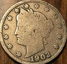 1902 USA 5 CENTS LIBERTY