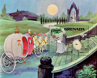 GRENADA DISNEY CINDERELLA STAMPS SOUVENIR SHEET CHRISTMAS 1981 MNH FAIRYTALE