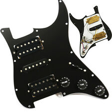 Black Guitar Loaded Pickguard Wired Plate For Humbuckers Guitar