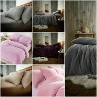 Teddy Bear Bedding Duvet Set & fitted sheet Extra furry Warm cosy Fluffy 4.0 ToG