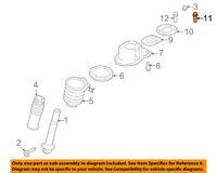 FORD OEM 08-09 Taurus X Rear Suspension-Bracket Bolt W709981S439