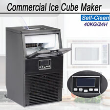 Commercial Ice Maker Built In Ice Cube Machine Bar Restaurant Self Clean