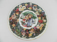 Royal Doulton Best Wishes Christmas Plate-1983-Signed Michael Doulton! England
