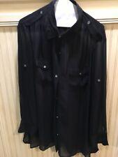 DKNYC - Sheer black blouse/jacket plus size 1X