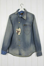 NEW VIVIENNE WESTWOOD ANGLOMANIA X LEE OSSIE CLARK DENIM SHIRT SIM FIT M MEDIUM