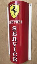 FERRARI SERVICE Curved Retro Style Reproduction Garage Sign
