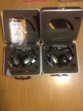 Vintage U'nicom Headsets With Hard Cases 14.8 Decibel Noise Reduction