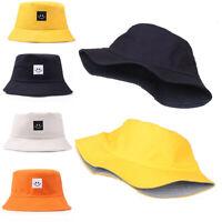 Women Men Fisherman Hat Summer Smiling Face Cotton Sun Outdoor Sport Bucket Cap