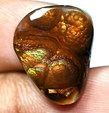 100% Natural Fire Agate AAA+ Mexican 10.10 Ct Gemstone AGL Certified 18 x 14 mm