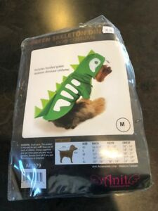 Green Spiked Skeleton Pull Over Dinosaur Dog Costume by Anit Accessories Medium
