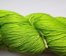 Luxury Maharaja Laceweight Silk Yarn, 100g. Lime Green, Weaving/Textiles
