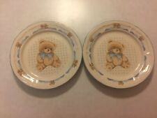 Set of (2) - Tienshan - Theodore Bear - Dinner Plates - 10.5 Inches