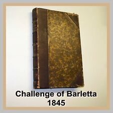 Ettore Fieramosca CHALLENGE OF BARLETTA d'Azeglio 1845 PAINE & BURGESS New York