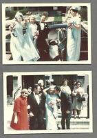 Lot of 2 VTG 1960s Color Photos WEDDING BRIDESMAIDS IN ROBIN'S EGG BLUE DRESSES