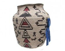 Tressa Curtis, Apache Inspired Grass Basket, Blue Ribbon, Navajo