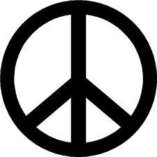 2x CND BAN THE BOMB Peace Symbol - VINYL STICKER DECAL