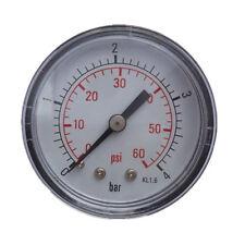 "Pool Spa Filter Water Pressure Gauge 0-60 PSI Back Mount 1/4"" Inch Pipe Thread"