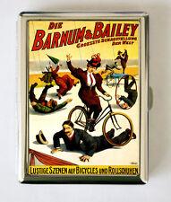 German Circus Poster Cigarette Case Business Card Holder vicorian bike performer