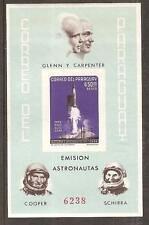 PARAGUAY # 821a Imperforate Variety MNH ROCKET U.S. ASTRONAUTS