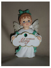 BIRTHSTONE ANGEL FIGURINE - MAY - EMERALD  - JEANE'S THINGS
