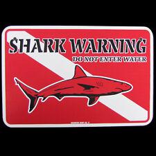 Metal SCUBA Diving Dive Flag Sign Shark Warning DO NOT ENTER Beach Wall Decor