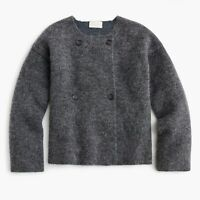 New J.Crew Collection Double-breasted Collarless Sweater Size Small MSRP $148