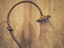 ANCIENNE TULIPE TRANSPARENTE A GRIFFE POUR LAMPE HOLOPHANE