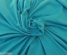 Turquoise Organic Cotton Spandex Fabric Jersey Knit Eco-Friendly By Yard 4/16